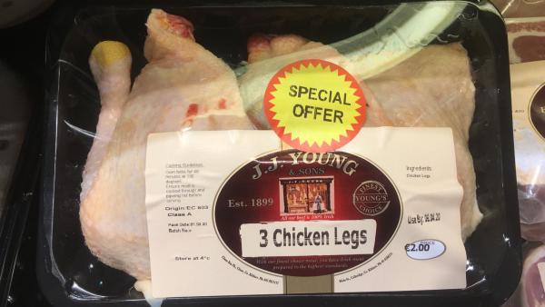 3 Chicken Legs