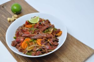 Beef Stir fry in black bean sauce
