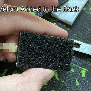 Optional velcro added to the back to secure it.