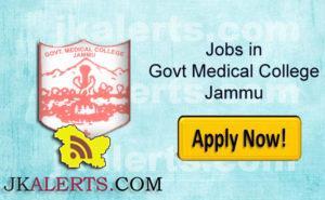 GOVERNMENT MEDICAL COLLEGE, JAMMU RECRUITMENT
