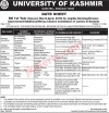 University of Kashmir Date Sheet, KU date sheet, Kashmir university datesheet, KU BG 1st Year Date sheet