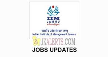 IIM Jammu Non-Faculty Jobs Recruitment 2021.
