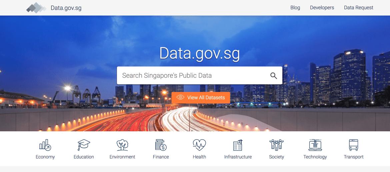 Singapore Data Portal - Digital Transformation initiative