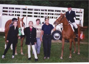 Local horse show with students