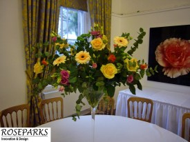Roseparks - Table Centres - Caledonian Hall