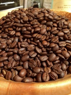 Freshly roasted Coffee.
