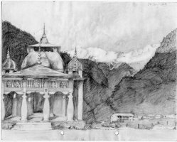 A temple in Kharsali village near Yamunotri, 24 July 2004