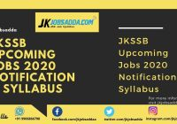 JKSSB Upcoming Jobs 2020 Notification & Syllabus