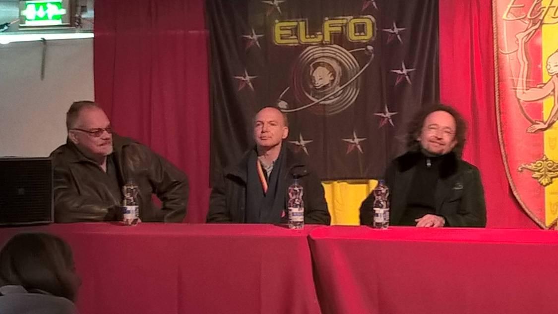 Panel met Richard Schwartz, Adrian Stone en Bernard Hennen