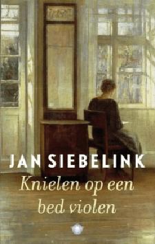 Boek Cover Knielen op een bed violen