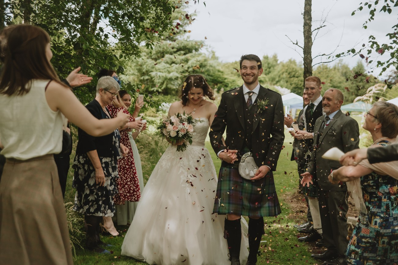 Getting married in a garden