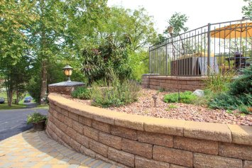 Walkway, Landscape Beds, & Retaining Wall
