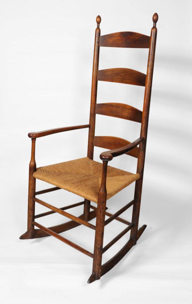Antique Shaker Rocking Arm Chair Circo 1840 New Lebanon