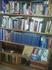 Part of my library, highly organized!
