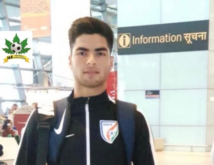 JKFA congratulate Sajid Hussain for being selected in U-15 Indian Football team