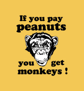 monkeys and peanuts