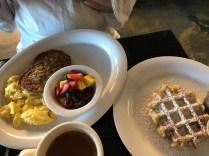 Kathleen's waffle breakfast