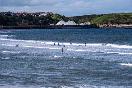 Surfers in Scarborough
