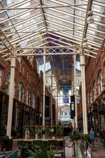 One of the many arcades in Downtown Leeds