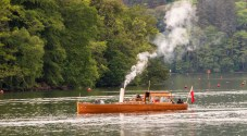 A steam excursion boat on Lake Windermere