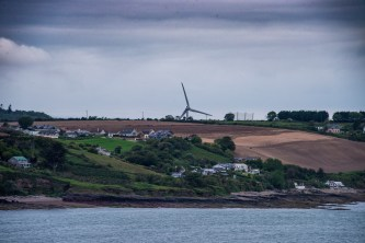 Sailing into Cork, I saw another example of alternative energy in Ireland