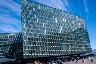 A closeup of Harpa Concert Hall to end our stay. We went inside but the photos didn't come out as well as I would have liked.