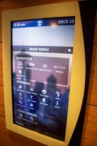These are on every deck near every elevator. The screens have everything you need to know, plus a room finder