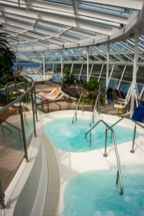 Inside the adults-only solarium