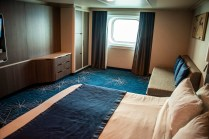 An outside accessible stateroom