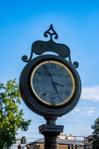 An old clock in downtown Walla Walla
