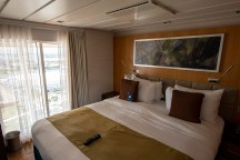 The bedroom upstairs. This stateroom is 1200+ square feet