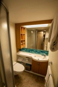 The bathroom of the inside stateroom