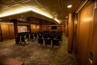Inside the Conference space where our classes were held on Deck 3. There are four conference rooms/2 large, 2 smaller and all can be joined together.