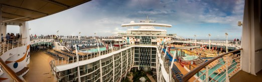 A small pano from the top of the ship