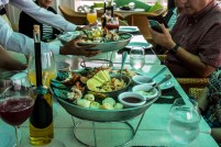 Took a break for lunch in Reflection's alternative seafood restaurant, The Porch. Amazing seafood towers start the meal.