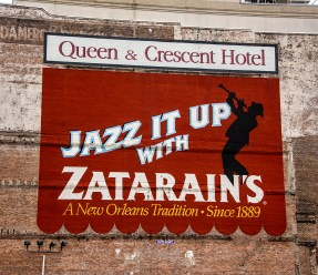 Sign in Storyville, the birthplace of jazz.