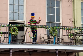 Plus, it was Mardi Gras. This guys is so typical of the welcome we received from everyone.