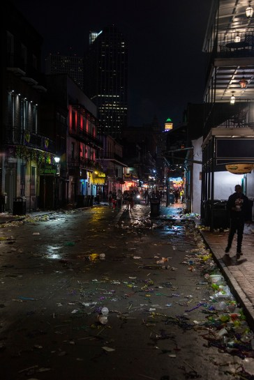 "Bourbon Street in all its ""glory?"""