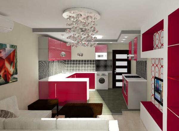 Кухня-гостиная 18 кв м (42 фото): видео-инструкция по ...
