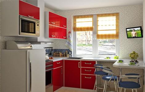 кухня 6 метров дизайн 3