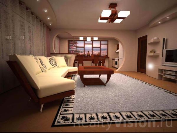 Дизайн кухни совмещенной с залом (54 фото): инструкция по ...