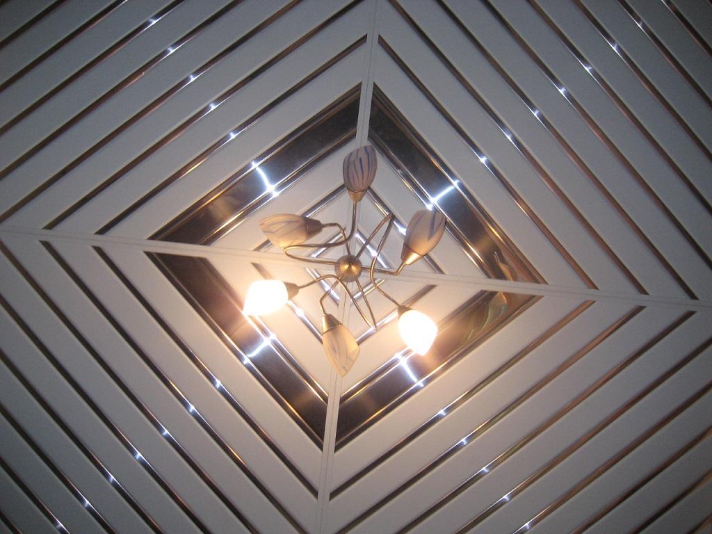 потолок из пластиковых панелей на кухне фото дизайн 7