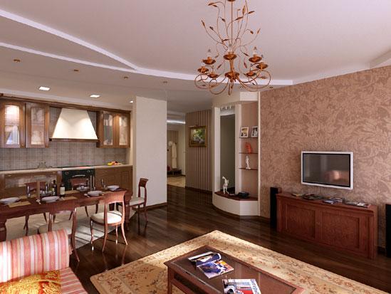 Кухня-столовая (44 фото), планировка совмещенного ...