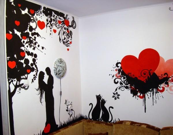 Рисунки на стене (38 фото) карандашом и другие виды ...