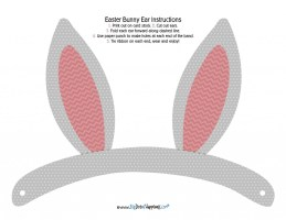 Free printable bunny ears from bigdotofhappiness.com