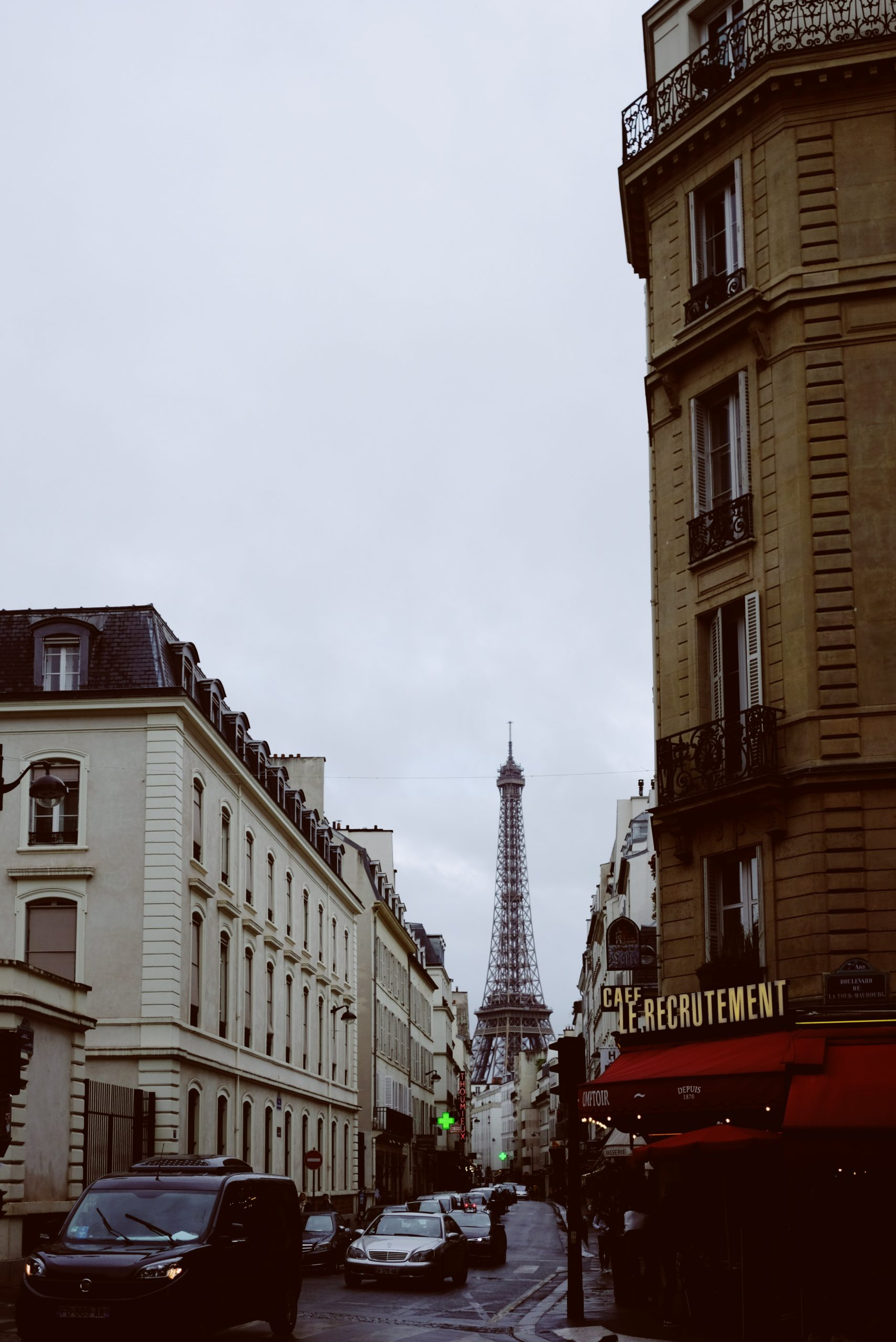 Eiffel Tower from Paris Street