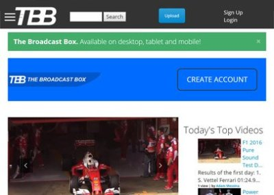 The Broadcast Box – Web Design