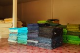 There were stacks and stacks of differently-colored paper.