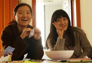 My student and Chinese tutor is on the left.