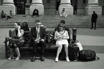 One of my favourites...what would this scene have looked like 30 years ago? What did we do before mobile phones?